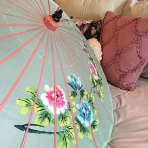 Other - Beautiful mint green oriental umbrella